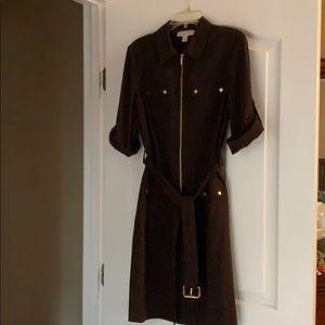 Michael Kors belted shirt dress